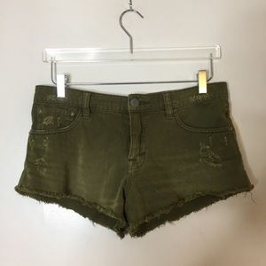 Free People Army Green Shorts. Size 26